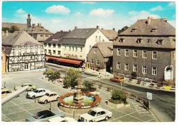 Brillon: OPEL COMMODE-A COUPÉ, MERCEDES W114/15, VW 1200 & 1600T, SIMCA 1100, FORD TAUNUS -Marktplatz- Hochsauerland (D) - Voitures De Tourisme