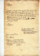 NAMUR ET CONSISTOIRE DU DUCHE DE BREMEN 1725 - Manoscritti