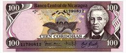 NICARAGUA 100 CORDOBAS 1984 Pick 141 Unc - Nicaragua