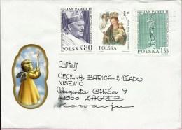 Letter - Pope John Paul II, 2001., Poland (to Zagreb, Croatia) - Covers & Documents