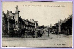 85 - FONTENAY Le COMTE --  Rue De La République , Prise De La Gare - Fontenay Le Comte