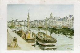 Le Croisic Passage Masson Aquarelle De Robert Leboucher  CPM Ou CPSM - Le Croisic
