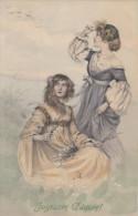 CPA - Femmes - Joyeuse Pâques - Women