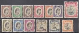 ** GRENADA DEF. ELISABETTA II SHIPS MNH YVERT 162/174 CAT. € 42,50 - Grenada (...-1974)
