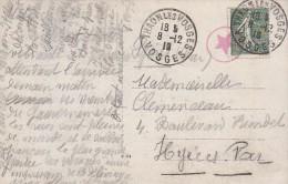 Sur CPA De Thaon-les-Vosges De 1918 + Tampon Miltaire étoile Rouge Dans Un Cercle - FRANCO DE PORT - Marcophilie (Lettres)