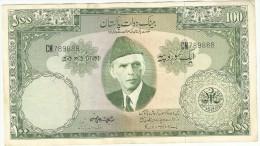 PAKISTAN OLD100 RUPEES SIGNATURE IS SHUJAT ALI HASNI. 1971 - Pakistan