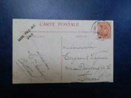 44/307    CP     DE BRUXELLES  CACHET RECLAME BIERE BASS'PALE 253 - Cervezas