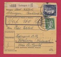 Allemagne  //  Colis Postal  //   De Solingen 1  //    Pour Kochern     //  19/10/1942 - Allemagne