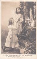 Carte Postale Ancienne Fantaisie - Fillettes - Prière - Vierge - Phantasie