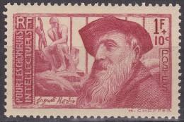 """Timbre-poste Neuf** - Au Profit Des Chômeurs Intellectuels Auguste Rodin Et """"Le Penseur"""" - N° 384 (Yvert) - - France"""