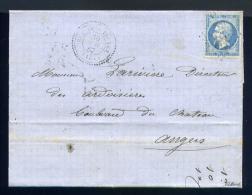 Lettre De Ruelle Sur Touvre Pour Angers 1867 - 1862 Napoléon III.
