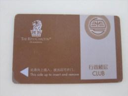 The Ritz-Carlton Guangzhou,corner And Edge With Damaged - Hotel Keycards