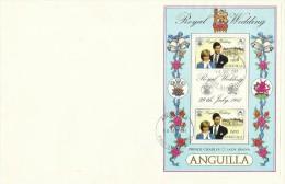 Anguilla 1981 Royal Wedding Souvenir Sheet FDC - Anguilla (1968-...)