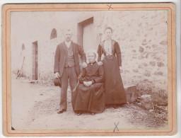 PHOTO TYPIQUE FAMILLE NAVEAU A MAISONCELLES PARS MESLAY SARTHE COIFFE Cabinet ALBERT VIVET LE MANS - Anciennes (Av. 1900)
