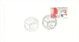 REVOLUTION = 34 ROUJAN 1989 = CACHET Illustré D'un BONNET PHRYGIEN  1789 EXPOSITION PHILATELIQUE ' - Bolli Commemorativi