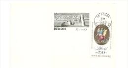 REVOLUTION = 35 REDON 1989 = FLAMME Type II = SECAP Illustrée ' 1789 Commémoration D'avril à Juillet ' - Postmark Collection (Covers)