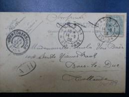 44/359   CP  POUR LA HOLLANDE 1903 - 1900-29 Blanc