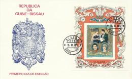 Guinea-Bissau 1981 Royal Wedding  Miniature Sheet FDC - Guinea-Bissau