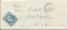 LT4173   N°22/Lettre, Oblit GC 3194 ROMORENTIN (40), Ind 3 - 1862 Napoleon III
