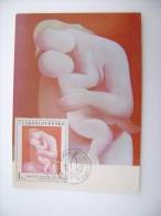La Mère De Mikulås GALANDA   Bratislava 27.11.1970 CECOSLOVACCHIA  CESKOSLOVENSKO  MAXIMUN - Storia Postale