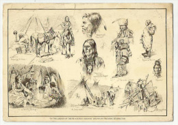--** In The Lodges Of  The BLACKFEET INDIANS ** Drawn By FREDERIC REMINGTON - Indiens De L'Amerique Du Nord