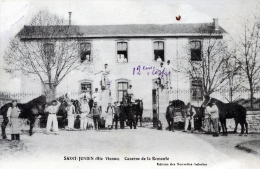 C1 cpa 87 Saint Junien - Caserne de la Remonte