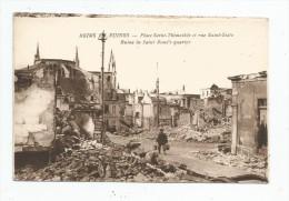 Cp , Militaria , Guerre 1914-18 , REIMS EN RUINES , Place SAINT THIMOTHEE Et Rue SAINT-SIXTE , Vierge - Guerre 1914-18