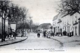 C21 cpa 87 Saint Junien - Boulevard Louis Blanc et la Poste