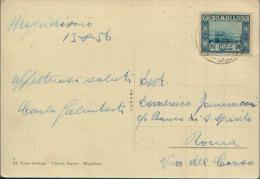 13.8.56 SOMALIA 55c. SOGGETTI AFRICANI A.F.I.S. SU BELLA CARTOLINA MOGADISCIO PIAZZA BIN QUEER - Somalia (AFIS)