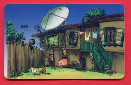 H364 / MOBIKA - OLD HOUSE , Television Aerials PIG COW HEN - Phonecards Télécartes Telefonkarten Bulgaria Bulgarie - Telecom