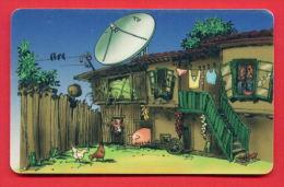 H365 / MOBIKA - OLD HOUSE , Television Aerials PIG COW HEN - Phonecards Télécartes Telefonkarten Bulgaria Bulgarie - Telecom