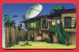 H368 / MOBIKA - OLD HOUSE , Television Aerials PIG COW HEN - Phonecards Télécartes Telefonkarten Bulgaria Bulgarie - Telecom