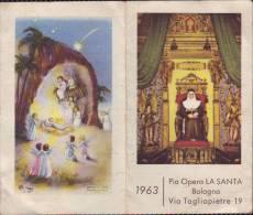 Calendario Anno 1963, Pieghevole Soggetto Religioso - Calendari