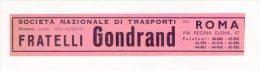 Segnalibro/bookmark Fratelli GONDRAND Società Nazionale Trasporti (Roma) - CIOCCHETTI Marmi Edilizia. Anni´30/´40 - Bookmarks