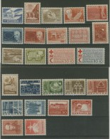DENMARK 1962 - 1967 FLUORESCENT / PHOSPHOR ISSUES MNH ** X25 STAMPS - Nuovi