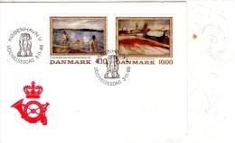 Tableaux,baignade,...-Danemark 1988-série Sur FDC-valeur 12 Euro - Impressionisme