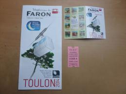 """Ticket de transport """"TELEPHERIQUE DU MONT-FARON ALLER-RETOUR"""" neuf, + horaires + d�pliant (Toulon (83)"""