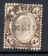 TRANSVAAL, Postmark ´DENVER´ On Edward VII Stamp - Zuid-Afrika (...-1961)