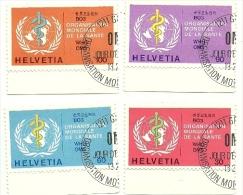 1975 - Svizzera S446/49 Organizzazione Mondiale Sanità C3512, - WHO