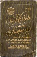 Les Hotels Suisses - Guide Avec Photos De Tous Les Hotels -  Documentation, Tarifs.... 246 Pages + Annexes(VP 671) - Other
