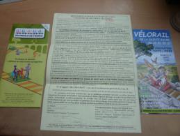 Facture VELORAIL DE LA SAINTE BAUME (VAR 83) + guide (plan) + prospectus + guide (plan) VELORAIL HAUTE PROVENCE (04)