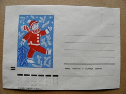 Cover From Lithuania, USSR Occupation Period, Christmas New Year 1972 821 - Lituanie