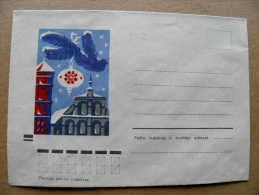 Cover From Lithuania, USSR Occupation Period, Christmas New Year 1972 822 - Lituanie