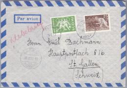 Motiv Olympia Finland 1952-2-15 Tuira Flugpost Brief Nach St Gallen - - Finlande