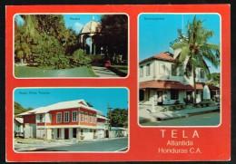 K125 Honduras - Tela Atlantida - Hotel Villas Telamar - Parque - Municipalidad / Viaggiata 1985 - Honduras