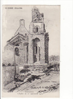 carte 1916 FONTENOY �dit� par Laguerre : guerre 1914 , l'�glise aau 13 septembre 1914