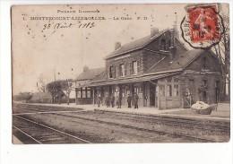 carte 1910 MONTESCOURT LIZEROLLES / LA GARE