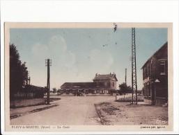 carte 1930 FLAVY LE MARTEL / LA GARE