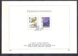 Czechoslovakia FIRST DAY SHEET  Mi 2921-2924 Bienale Children Books Illustrations   1987 - Tsjechoslowakije