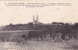 CPA 62 @ MONT SAINT ELOY @ Avant La Guerre - Les Tours Que De Bien Loin On Voyait - Belle Ruine Historique Détruite - Altri Comuni